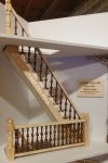 Laser Cut Straight Narrow Spindle Staircase Kit#2 For Dollhouses