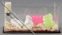 Miniature Mice in Aquarium Habitat by Alice Zinn for Dollhouses
