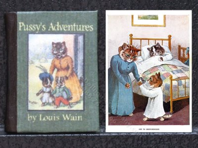 Miniature Book: 'Pussy's Adventure'