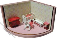 "1/144"" Scale Nursery Furniture Kit for Dollhouses"