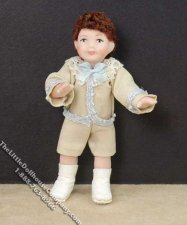Brown Haired Boy Wearing Victorian Clothing by Patsy Thomas