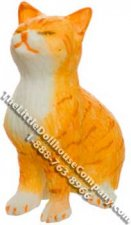 Dollhouse Scale Model Dreaming Orange Striped Cat