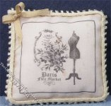 Miniature Pillow with Dressmaker Pattern on it for Dollhouses