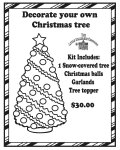 Miniature Decorate your own Christmas Tree kit
