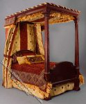 Miniature 4 Poster Bed with Pillows & Blanket by Serena Johnson