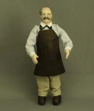 Man Doll in Apron by Patsy Thomas