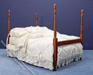Miniature 4 Post Bed with Duvet & Pillows by Serena Johnson