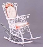 Miniature Rocking Chair with Cushions by Janet for Dollhouses