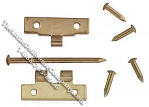 Flush Hinges with Nails for Dollhouse Scale Models