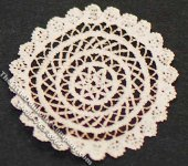 Miniature Round Laser Cut Doily for Dollhouses