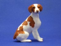 Dollhouse Scale Model Brittany Spaniel by Karl Blindheim
