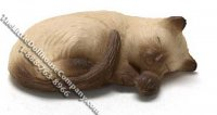 Dollhouse Scale Model Sleeping Siamese Cat