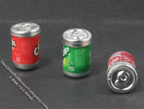 Miniature Can of Soda Pop for Dollhouses (1/pk)