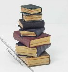 Miniature Book Stack for Dollhouses