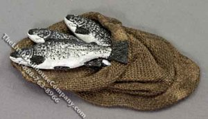 Miniature Sack of Fresh Fish for Dollhouses