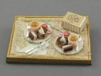 Dollhouse Scale Model Sweet Dessert Cake for Two