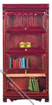 Miniature Mahogany Barrister Bookshelf for Dollhouses