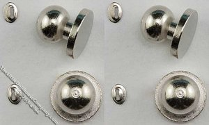 Miniature Round Door Knobs w/Keyhole for Dollhouses (4/pk)
