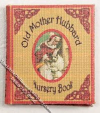 Miniature book: Old Mother Hubbard Nursery Book