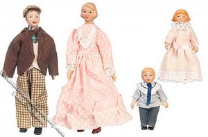 Country Victorian Doll Family (4)