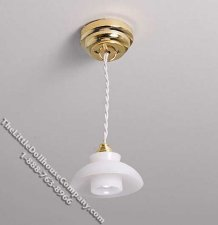 Dollhouse Scale Model Battery Operated Frosted Ceiling Light