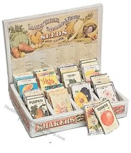 Miniature Seed Packet Display Box Kit