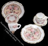 Miniature Rose Dessert Set for Two for Dollhouses