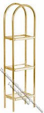 Miniature Brass & Glass Etagere for Dollhouses