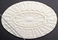 Dollhouse Scale Model Oval Ceiling Medallion