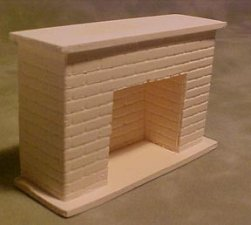 Dollhouse 1/2 Scale Model Fireplace