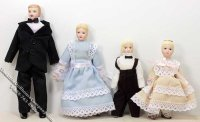 Blond Dollhouse Family