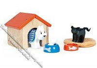 Dollhouse Scale Model Pet Set
