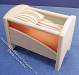 Miniature Modern Style Crib w/Bedding for Dollhouses