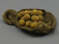 Dollhouse Scale Model Sack of Potatoes