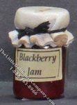 Dollhouse Scale Model Homemade Blackberry Jam in Wax Sealed Jar