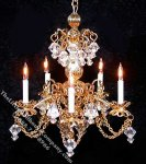 Dollhouse Scale Model Suzette Chandelier