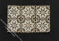 Miniature Full Scale Rectangular Laser Cut Doily for Dollhouses