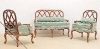 Miniature New Walnut Lorraine Living Room Set for Dollhouses