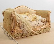 Miniature Yellow Sofa with Pillows and Blanket by Serena Johnson