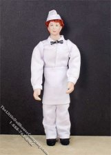Red Haired Man Wearing a Soda Jerk Outfit by Patsy Thomas