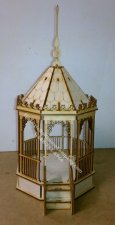 Half Scale Gazebo Laser Cut Kit for Dollhouses