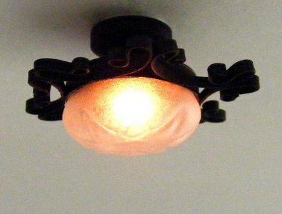 Miniautre Ornate Iron Ceiling Lamp