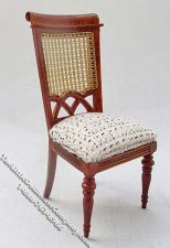 Miniature Berger French Style Walnut Side Chair for Dollhouses