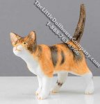 Dollhouse Scale Model Calico Cat Walking