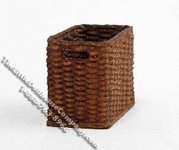"Miniature Tall ""Wicker"" Basket for Dollhouses"