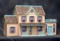 Assembled Peaches & Cream Dollhouse with Additions