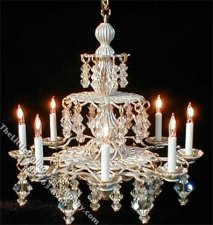 Dollhouse Scale Model Symphony White Chandelier