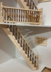 Laser Cut Narrow Straight Spindle Staircase Kit#1 For Dollhouses