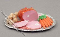 Dollhouse Scale Model Ham Platter