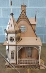 Jasmine Gothic Victorian Cottage Laser Cut Dollhouse Kit